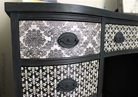 Vintage Nightstand by French Decoupage Desk Themed Furniture Makeover Day