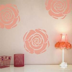 Flower Stencils Art Deco Flower Furniture Wall Art