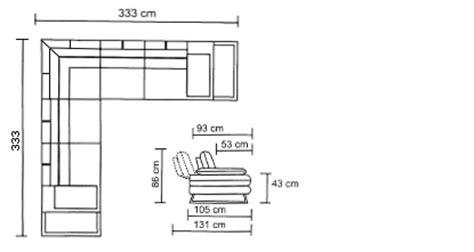dimension canape angle canapé d 39 angle relax xl en tissu avec dossiers et