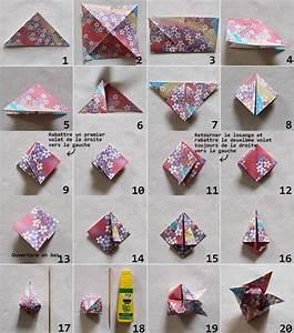 Origami Fleur Coeur D étoile : diy guirlande de fleurs de lotus en origami mes diy ~ Melissatoandfro.com Idées de Décoration