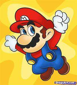 How to Draw Super Mario, Step by Step, Video Game ...