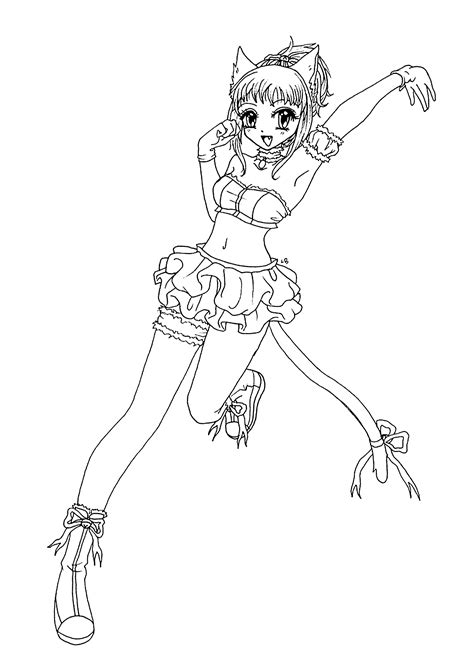 Emo coloring page ♥♥colour me crazy♥♥. Anime Cat Girl Coloring Pages - Coloring Home