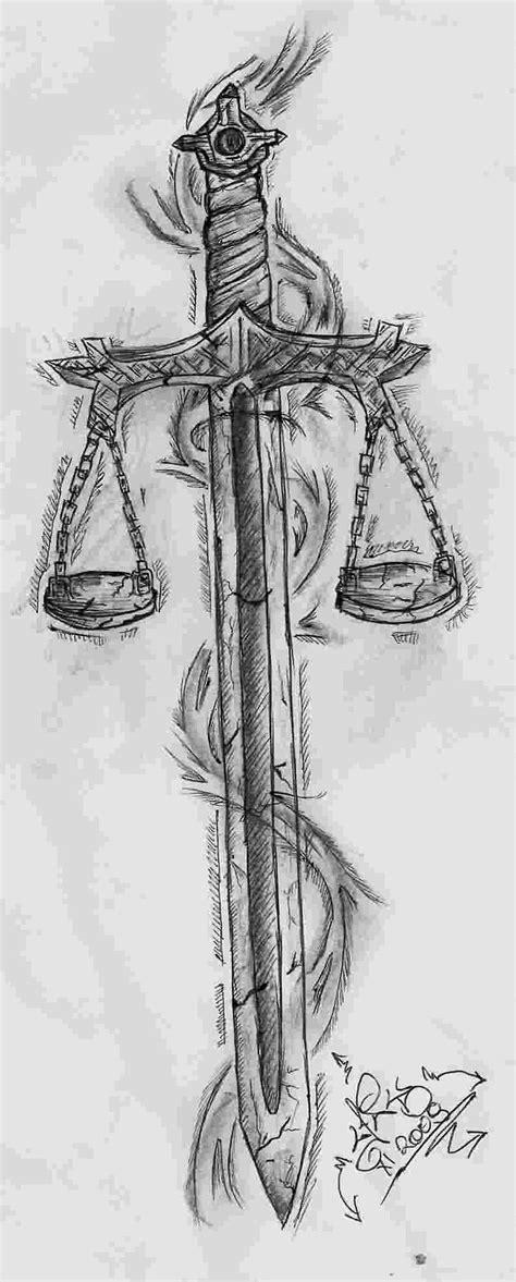 """Résultat de recherche d'images pour """"sword with scales of justice tattoo""""   Tatuagem justiça"""