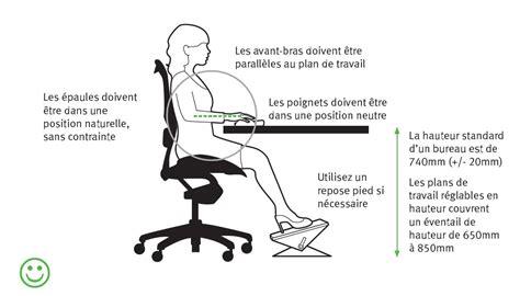 position ergonomique au bureau comment agencer bureau de façon ergonomique