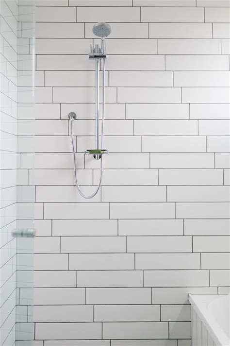 35 black and white subway bathroom tile ideas and pictures