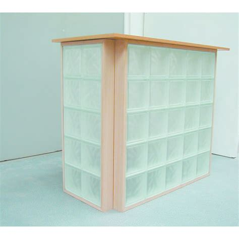 cloison vitree cuisine panneaux de briques de verre à cadre bois bricokit bois