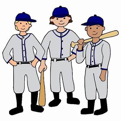 Team Clip Clipart Sports Baseball Player Cartoon