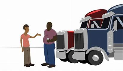 Truck Drivers Trucking Stop Stops Uphill Justice