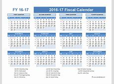 2016 Fiscal Year Calendar USA 07 Free Printable Templates