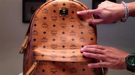mcm stark medium backpack cognac authentic rare youtube