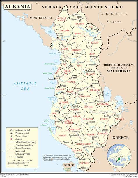albania political map mapsofnet