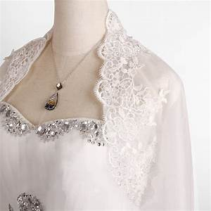 bride lace embroidery shoulder shawl bridal long sleeve With shawl for wedding dress
