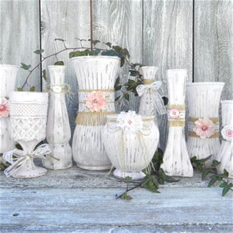 buy shabby chic wedding decorations burlap and lace pink shabby chic vase from sofrickincute on etsy