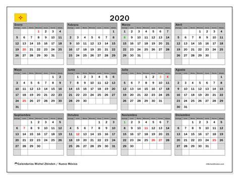 calendario nuevo mexico eeuu michel zbinden es