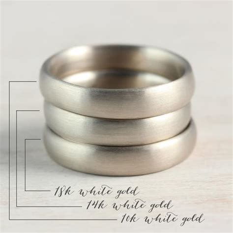 Sterling Silver Vs White Gold Wedding Band