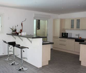 deco maison cuisine ouverte aménagement décoration salon et cuisine ouverte