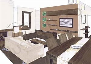 deco salon salle a manger zen exemples d39amenagements With salon salle a manger zen