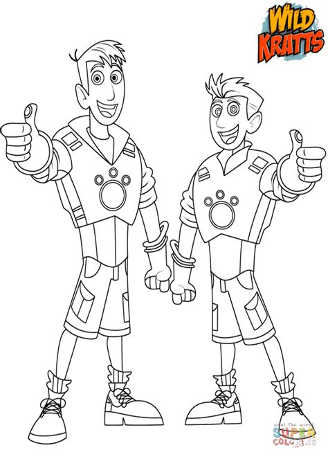 chris  martin kratts coloring page  printable