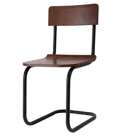 creative co op metal leather dining chair da4817