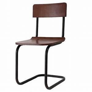 Creative Co-Op Metal & Leather Dining Chair - DA4817