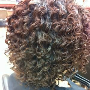 spiral perm curls on medium length hair hair