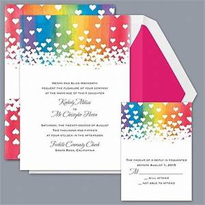 who doesn't like rainbow hearts? | Wedding Invitation ...