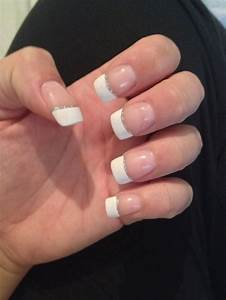 French manicure with silver line | Hot nails | Pinterest ...