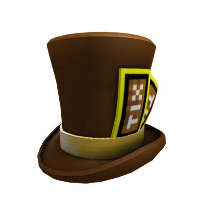 catalogbrown tix top hat roblox wikia fandom powered