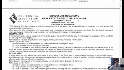 ca residential purchase  sale agreement rpa youtube
