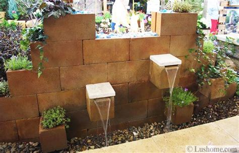 original cinder block ideas for diy yard decorations
