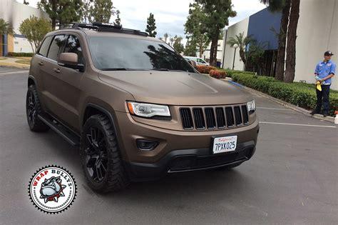 matte tan jeep jeep wrapped in 3m matte brown wrap bullys