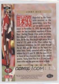 Deck Collectors Choice Jerry Rice by 1994 Deck Collector S Choice Base 45 Jerry