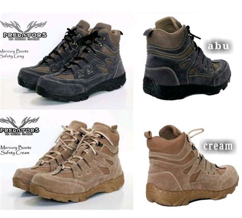 jual sepatu boots predator tactical army gunung safety low