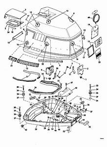 Evinrude Motor Cover Parts For 1979 115hp 115999r Outboard