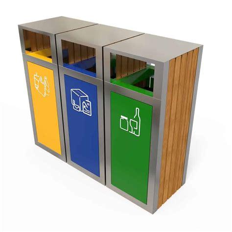 kuokio poubelle extérieur tri sélectif 3 bacs tri des déchets