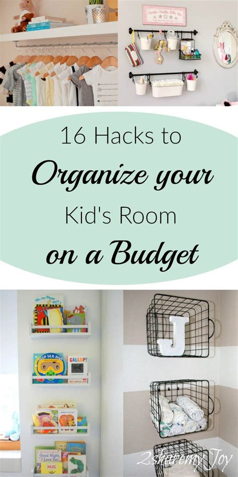 simple nurserykids room organizing diy hacks kids