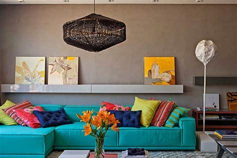 sofa turquesa sala azul turquesa 60 ideias e fotos de decora 231 227 o a cor