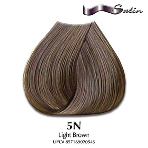 satin hair color satin hair color 5n light brown hair coloring satin