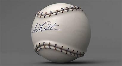 Babe Ruth Baseball Kezan Ball 3d Pbr
