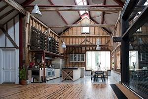 london barn conversion puts reclaimed materials to good use With interior design ideas for barn conversions