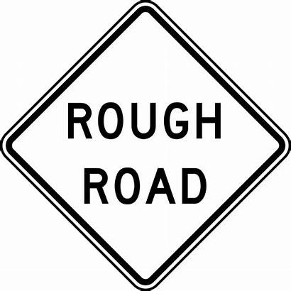 Road Sign Clipart Signs Caution Rough Clip