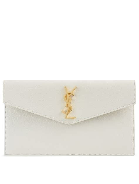 saint laurent medium uptown ysl monogram leather envelope clutch bag holt renfrew