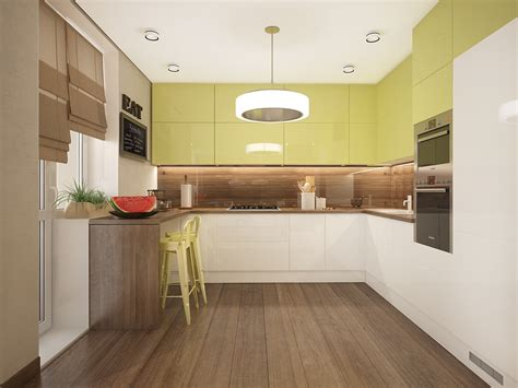 Limegreenkitchen  Interior Design Ideas