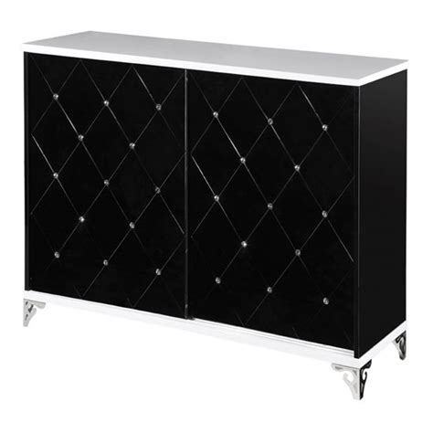 Black And White Sideboard by Scout Sideboard In Black And White Gloss With Diamante