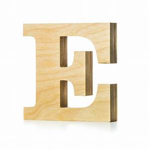 wooden letter crafted from quality birch plywood hand With wooden letter e