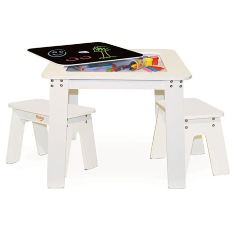 reversible chalk kids small desk table benches picnic