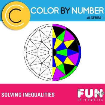 solving inequalities color  number  funrithmetic tpt