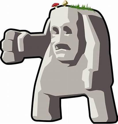 Rock Giant Clipart Cartoon Head Stone Rocks