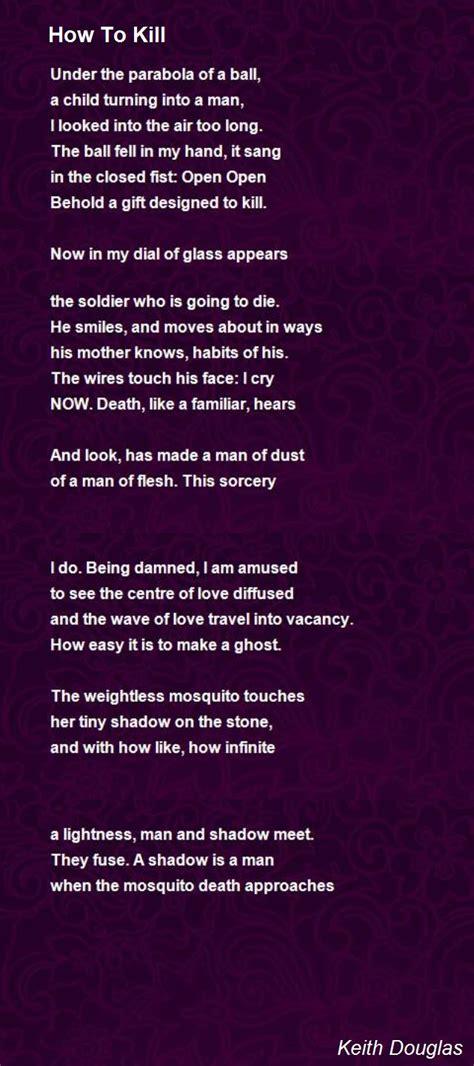 kill poem  keith douglas poem hunter
