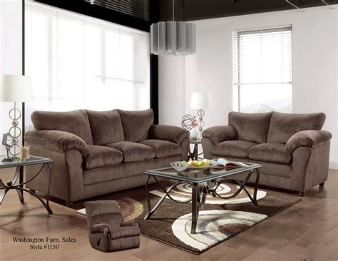 Chocolate Loveseat by Washington Chocolate Sofa And Loveseat With Free